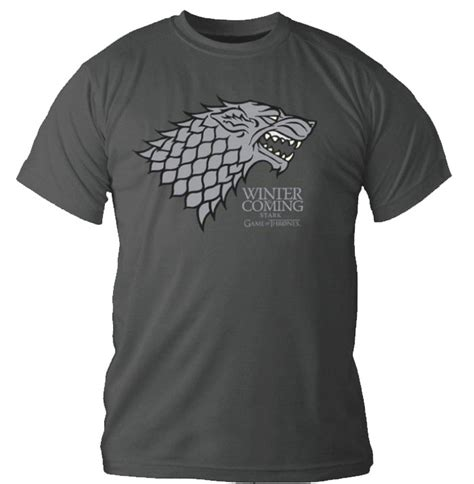 Tshirt Of Thrones Berkualitas 1 t shirt of thrones gris fonc 233 logo stark winter is