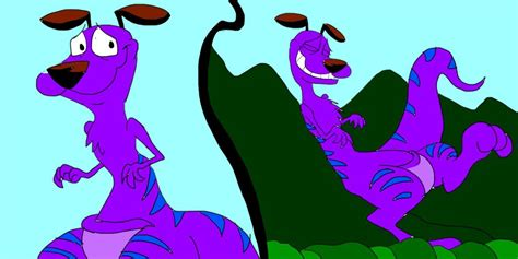 courage the cowardly monsters courage in kangaroo mountain scratch by sammyd91 on deviantart