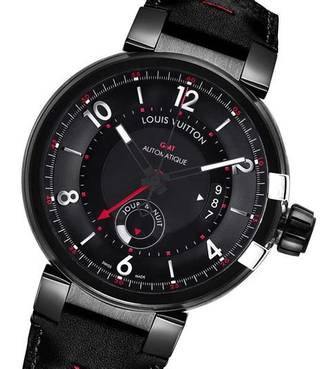 louis vuitton tambour 233 volution gmt in black watches for