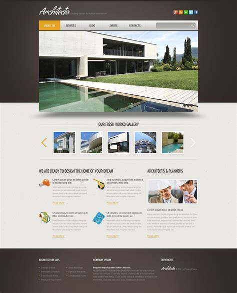 Simple Construction Wix Website Template 46256 Wix Web Templates