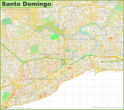 map of santo domingo large detailed map of santo domingo