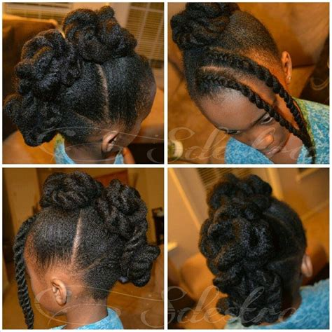 hairstyles for black women no heat twisted frohawk on natural hair no heat children s