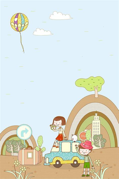 dessin de camps de vacances des affiches de psd de fond