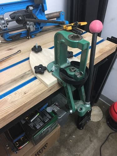 rcbs reloading bench plans finally mounted rcbs press to reloading bench hatcher s
