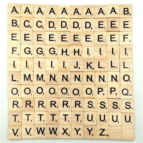 scrabble alphabet 100pcs set wooden alphabet letters tiles black scrabble