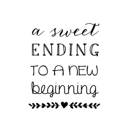 A Sweet Ending by Cb Stationery Shop Timbro A Sweet Ending To A New Beginning