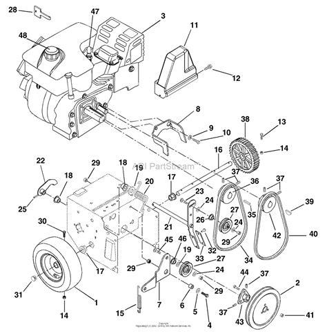ariens parts diagrams ariens 932035 000101 st724 7hp tec 24 quot blower