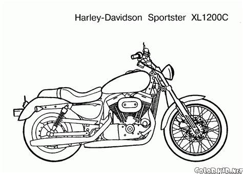 boyama sayfasi bir stand motosiklet