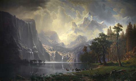 imagenes artisticas naturalistas file bierstadt among the sierra nevada mountains 1868