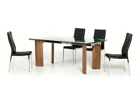 Furniture Stores Helena Mt by Modrest Helena Modern Extendable Glass Dining Table