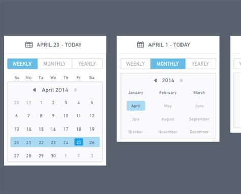 material design calendar ui psd 28 datepickers for website ui and mobile apps