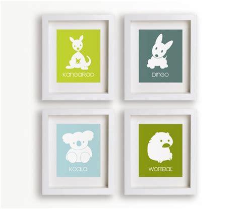 Nursery Decor Australia Outback Set Of Four 5x7 Prints Nursery Decor Nursery Wall Animal Silhouette