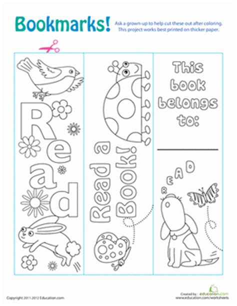 printable science bookmarks color your own bookmarks worksheet education com