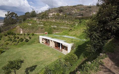 hillside houses dissolved into the landscape hillside home is virtually
