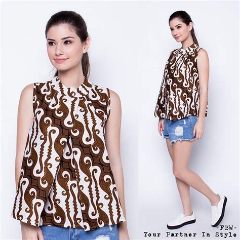 Evie Blouse Sabrina Blus Wanita Cantik 60 model baju batik modern terbaru tamtowild