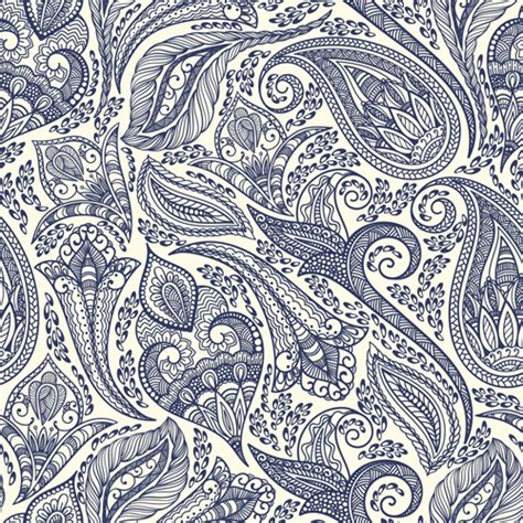 seamless pattern indian indian paisley seamless pattern vector material 05