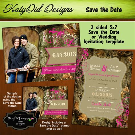 camo invitations template best template collection