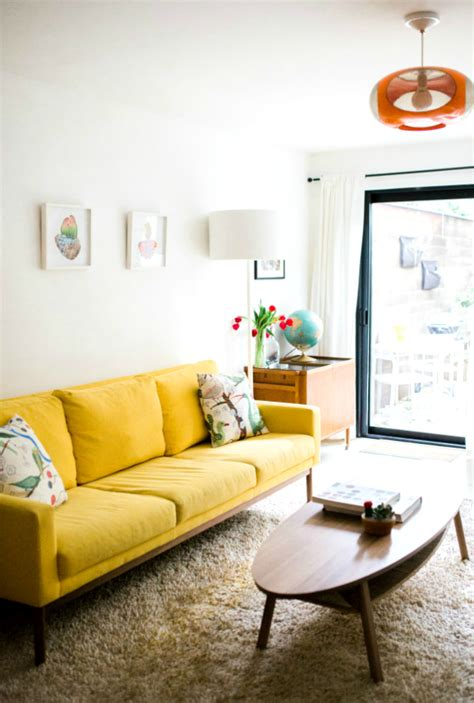 living room with yellow sofa 23 wonderful living room ideas with a yellow sofa