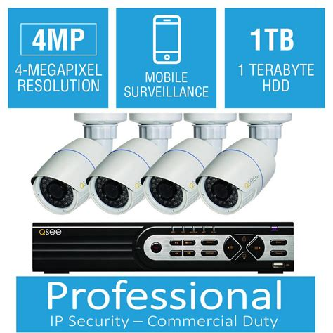q see 8 channel 4mp 1tb network recorder with 4