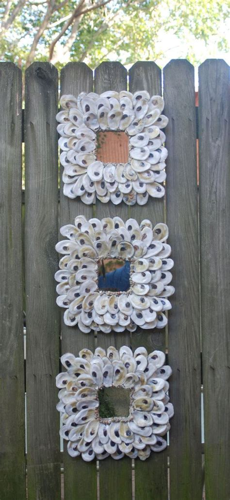 oyster shell craft projects best 25 shell mirrors ideas on