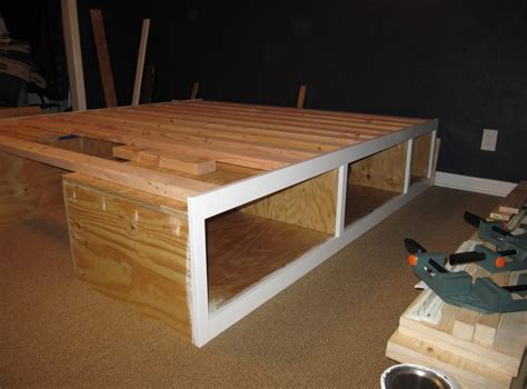 diy raised bed frame raised wooden bed frame interesting ideas for home