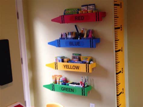 Super Mario Bedroom Ideas crayon shelves