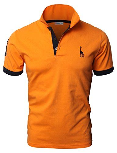 hh mens casual slim fit polo  shirts basic designed