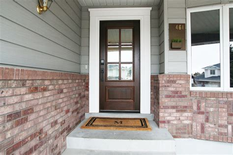 How To Trim An Exterior Door Adding Trim Around The Inside Of Our Front Door Finally Chris