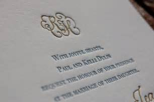 letterpress wedding invites born to be a