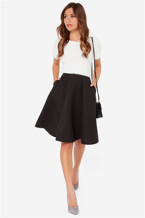 black swing skirt swing dance washed black midi skirt circles skirts and