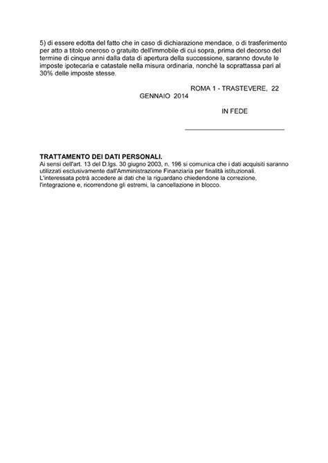 imposta sostitutiva prima casa come si compila la richiesta per agevolazione prima casa