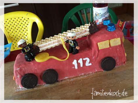 Feuerwehrauto Als Kuchen Zum Kindergeburtstag Backen