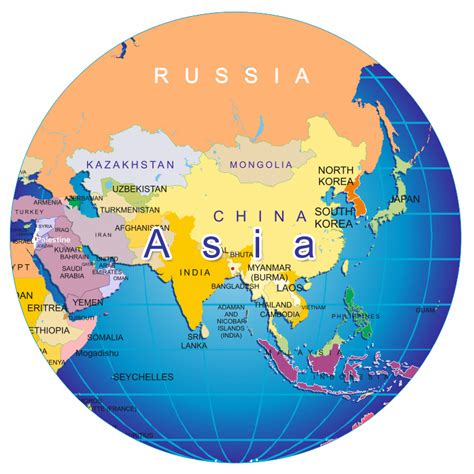 globe map of asia pakistan map outline cliparts co