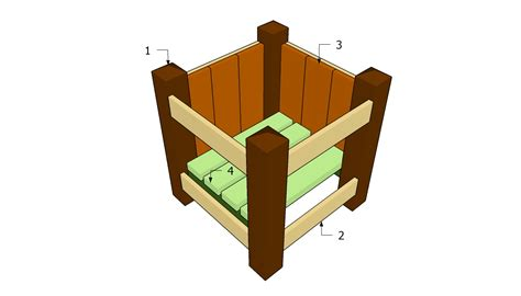 plans  wooden planters  woodworking