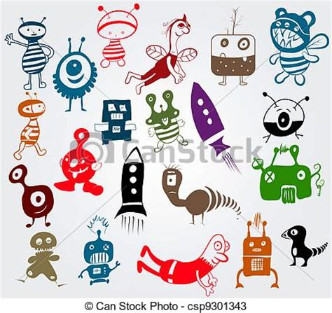 Vectors Of Doodle Characters Doodle Characters