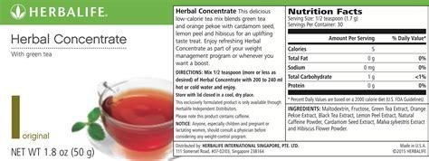 Teh Concentrate Herbalife herbalife tea nutrition label besto