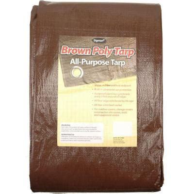 sigman 16 ft x 20 ft brown economy tarp brpt016020 the