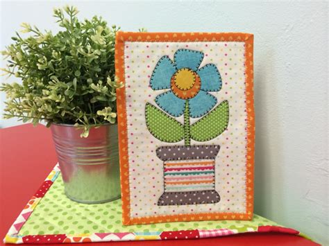 mug rug kits spoolie flower mug rug kit laser spoolie flower quilting by the bay in panama city florida
