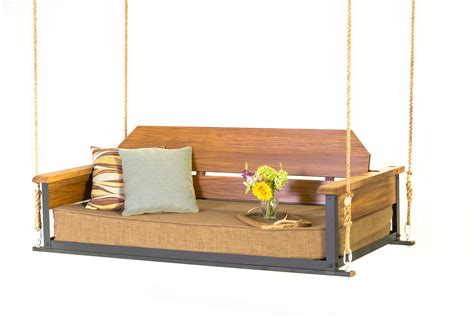Porch swing beds the cottage teak the porch companythe porch company 7 amazing swing beds or