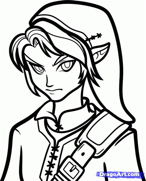 How To Draw Dark Link Dark Link Step By Step Video Game Link Coloring Pages