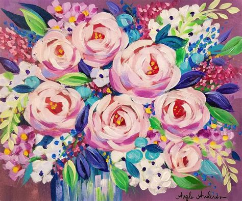 acrylic painting lessons flowers free impressionist floral acrylic painting tutorial by