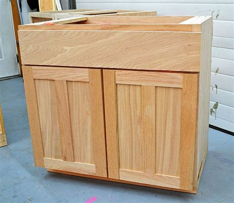 Kitchen Cabinet Faces White Build A Kitchen Cabinet Sink Base 36 Overlay Frame Free And Easy Diy