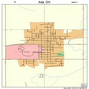 Ada Ohio Map by Ada Ohio Street Map 3900198