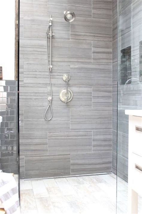 gray shower tile ideas  pictures bathroom reno