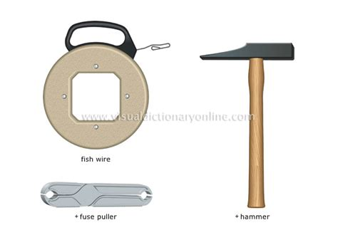 house wiring tools house do it yourself electricity tools 5 image visual dictionary online