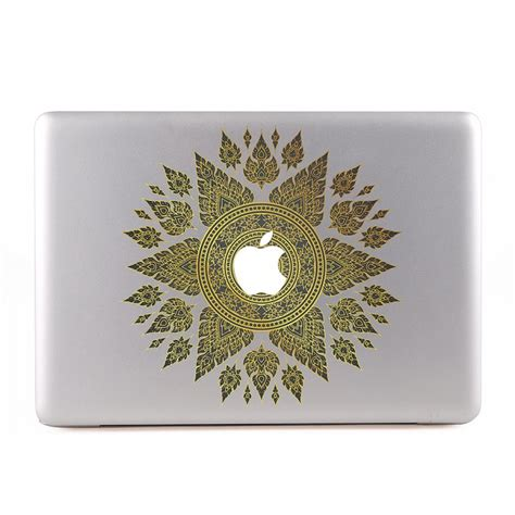 Apple Aufkleber Gold by Thai Element Traditional Gold Macbook Skin Aufkleber