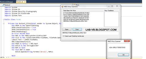 Membuat Virus Antivirus Dilengkapi Source Code Antivirus Brontok lab vb membuat anti virus md5 scanner dengan vb 2010