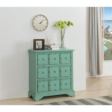 Seafoam Green Dresser by Treasure Trove Accents Navassa Seafoam Green Three Drawer