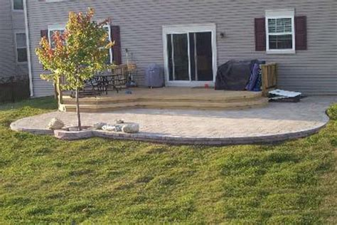 How To Build A Paving Patio by Outdoor How To Build A Paver Patio Wood Deck How To