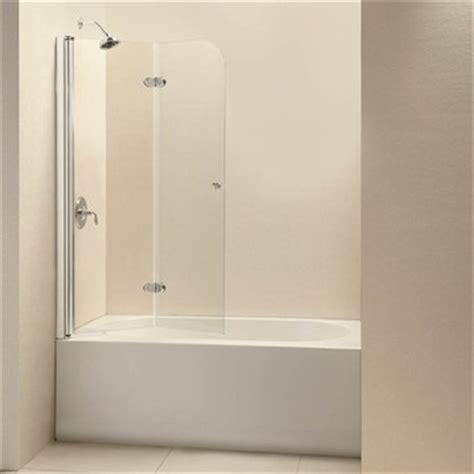 trackless bathtub doors bath authority dreamline ez fold frameless hinged tub door